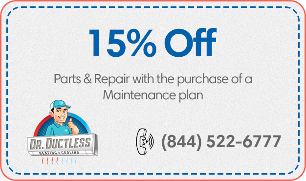 15 off parts repairs with the purchase maintenance plan